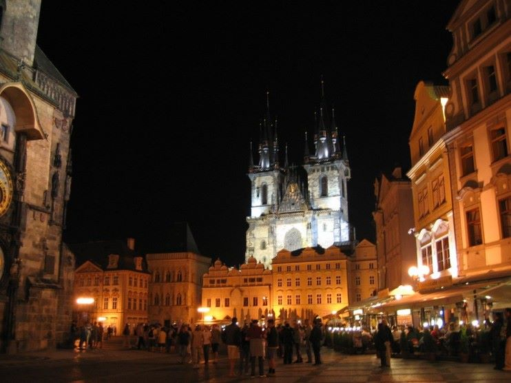 Tyn-and-Old-Town-Square-by-night