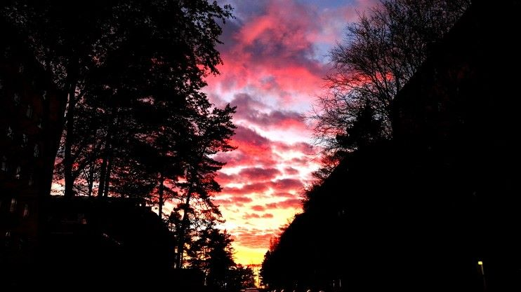 Auringonlasku Meilahdessa