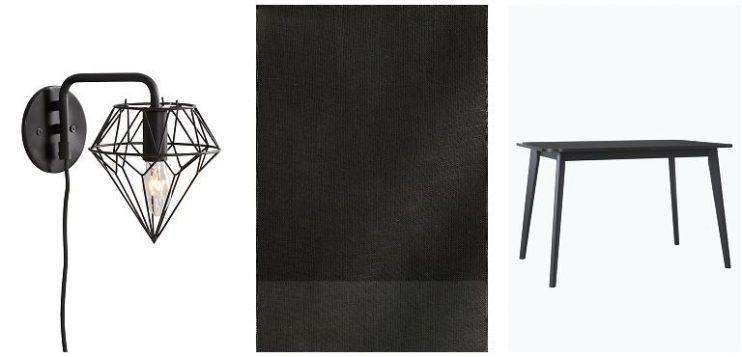 Diamant seinävalaisin // Pellavakangas // Ruokapöytä
